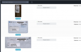 A first look at your online mailbox. Clean, easy to use, and intuitive. View your mail and packages from within your online mailbox anywhere. Sort your mail into folders too!