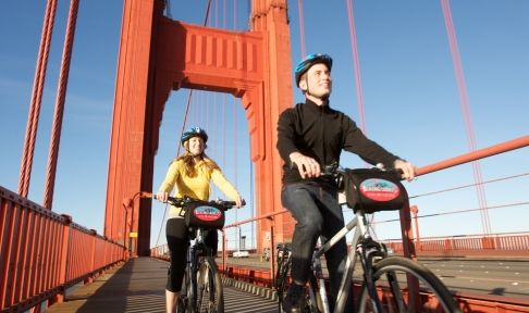 Biking The Golden Gate Bridge Traveling Mailbox